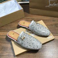 männer halbe pantoffelschuhe großhandel-Sommer Männer High-End-Marke neue Luxus-Schuhe bequem und bequem Mode Freizeitschuhe Persönlichkeit Flut männlichen klassischen halben Hausschuhe