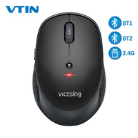 Wholesale adjustable laptop tablet for sale - Group buy VicTsing PC254 Wireless Mouse DPI Adjustable Portable Bluetooth Mouse Ghz USB Optical Cordless Mice For PC Tablet Laptop