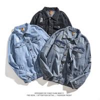 veste d'hiver de mode asiatique achat en gros de-Mens Denim Vestes Hip Hop High Street Fashion Men vitange Manteaux Vestes Vêtements ASIAN Automne Hiver Taille S-3XL