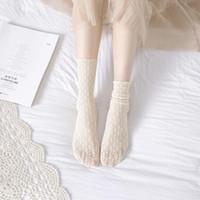 Wholesale cute vintage clothing resale online - Sweet Princess Girl Cute Ladies Vintage Hollow Lace Flower Socks Soft Short sock summer style charming women s clothing