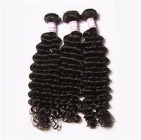 büyük dalga saç uzantıları toptan satış-BÜYÜK İNDIRIM% 30% Remy saç Örgüleri Atkı Hint Derin Dalga Bakire Saç Üst Sınıf Bakire Hint doğal Dalga Derin Dalgalı İnsan Saç Uzatma