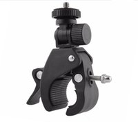 Wholesale 55 camera online - Gopro Motorcycle Bicycle Handlebar Clamp Mount Pipe Clip for GoPro Hero Gopro Xiaomi Yi Action Camera Camcorder