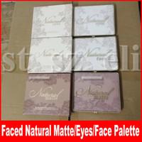 paleta azul al por mayor-Faced Eye Makeup Faced Natural Face Natural Eyes Mate Eyes Natural Mate Sombra de ojos Paleta 9 colores Lace Shimmer Eye Shadow