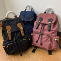 Wholesale backpack stitching online - New brand backpack designer backpack handbag high quality two color stitching backpack school bags outdoor bag