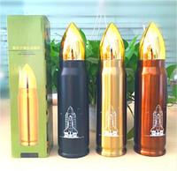 ingrosso vuoto del bullet-vendita calda bottiglia di acqua in acciaio inox bullet campeggio bottiglia capacità 350 ml o 500 ml thermos sottovuoto