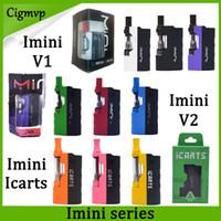 las baterías encajan v2 al por mayor-100% auténtico Imini v2 icarts Kit con cartuchos de 0.5 / 1.0ml Precaliente la batería Mod Fit Liberty v1 v9 v14 ac1003 Vision spinner