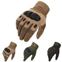 жесткие перчатки оптовых-Тактические перчатки Армейские спортивные напольные мотоциклетные перчатки с полными пальцами Пейнтбол Стрельба Боевая рукавица с жестким костяшком