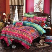 3d bettwäsche-sets großhandel-Böhmische 3D Tröster Bettwäsche-Sets Mandala Bettbezug Set Winter Bettlaken Kissenbezug Königin King Size Ethnischen Stil Bettwäsche Bettdecke