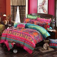 comforters 3d para camas venda por atacado-Boêmio 3D Conjuntos de Cama Consolador Mandala Capa de Edredão Set Inverno Lençol Fronha Rainha King Size Estilo Étnico Colcha de Cama