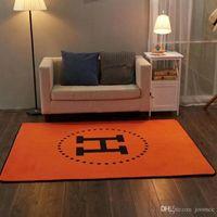 ingrosso lettera h-Tappeto arancione lettera H nuova moda decorazione tappetino di alta qualità nuova stampa tappeti antiscivolo 4 dimensioni