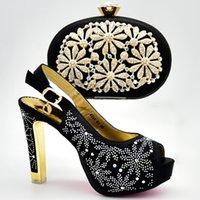 дорожные сумки для обуви оптовых-Хорошая цена ботинки партии и сумка комплект красивый стиль для дамы обувь соответствующие сумки