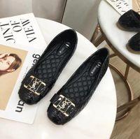 ingrosso nuovi materiali per la decorazione-2019 nuova stazione europea vendita di scarpe piatte di grandi dimensioni con materiale PU di alta qualità lettere alla moda decorazione sequin 659-1