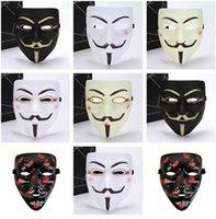 maskeli parti süslemeleri toptan satış-Anonim Valentine Topu Parti Dekorasyon Tam Yüz Cadılar Bayramı Karnavalı Korkunç Cosplay Fantezi Elbise Kostüm Vendetta Maskesi V Maskesi Masquerade