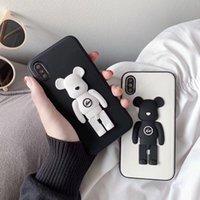 capas para telefone com ursinho de pelúcia venda por atacado-Nova moda iphone case dos desenhos animados 3d brinquedo relâmpago teddy bear phone case capa protetora phone case iphone x xr xsmax