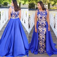 Wholesale lace styles photos for sale - Group buy 2019 Eyesight Mermaid Evening Dress Full Appliques With Jewel Oveskirts Arabic Style Prom Dresses Hot Sales