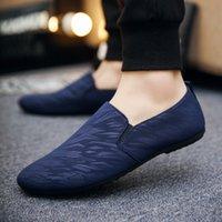 calçados casuais cinza dos homens venda por atacado-2019 novos sapatos casuais dos homens sapatos respirável tecido leve moda primavera outono leopardo preto cinza azul plana sapatos masculinos baratos