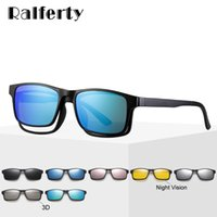 Wholesale sunglasses magnets resale online - Ralferty In Magnet Sunglasses Men Polarized Clip On Glasses Women Square Eyeglass TR90 UV400 D Optic Frames Oculos A2247