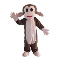 trajes de macaco para adultos venda por atacado-Monkey Costume Outfits Adulto Mulheres Homens Dos Desenhos Animados Animal traje Da Mascote Para O Carnaval Festival Atividade Comercial