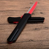 Wholesale red handled knife sets resale online - Red Munroe Cypher D A D2 Blade outdoor Custom Automatic UT Tactical knife aluminum handle EDC Tools Survival Rescue knives P932M F