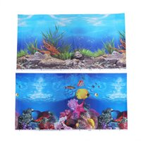 Wholesale backgrounds aquariums for sale - Group buy 1 Pc Background Sticker Underwater Adhesive Double Sided Wallpaper Backdrop Image Decor For Aquarium