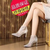 Wholesale new designs ladies wedding shoes online - new woman sandals summer boot genuine leather high top fashion design EU size ladies causal shoes