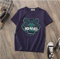 gestickte hemden für mädchen großhandel-Kid Boy Designer T Shirts 2019 Sommer Trendy Mädchen Tees Mode Bestickte Buchstaben Jungen T-shirt Casual Print Kurzarm Mädchen Kleidung