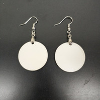 Wholesale best fiber for sale - Group buy New sublimation earring DIY earring round dangler manual blank eardrop best handwork for gift by yourself
