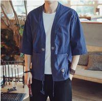 ingrosso yukata-Tradizionale giapponese abbigliamento kimono cardigan giapponese kimono tradizionale samurai haori karate maschio yukata obi AA3827 Y A