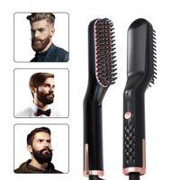 Wholesale beard comb straightener for sale - Group buy Hot Sell Hair Straightening Irons Beard Grooming Kit Multifunctional Beard Straightener Styling Multifunctional Hair Comb Brush