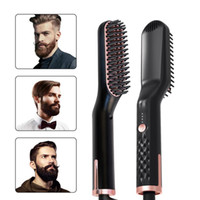 ingrosso ferro da stiro di raddrizzatore dei capelli-Hot Sell Raddrizzatura Irons Beard Grooming kit multifunzionale Barba raddrizzatore che disegna multifunzionale dei capelli del pettine della spazzola