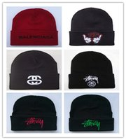 Wholesale hiphop hat korean for sale - Group buy Top Sale Blingbling Beaines Breaking hair Bad Hair Day wool hats hiphop hats Korean knitted men and women