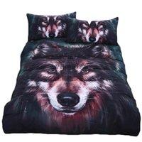 Wholesale wolf bedding sets resale online - J D Wolf Oil Painting Duvet Cover Pillowcase Bedding Set