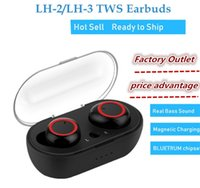Wholesale blutooth earphones for sale - Group buy Bluetooth Earphones Amoi LH Wireless Blutooth Headset Sport Stereo Handsfree Earbuds With Mic Charging Box PK I12 I9S