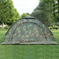 Wholesale camouflage sun shade resale online - 1 Person Portable Outdoor Camping Camouflage Tent Outdoor Hiking Hunting Recreation Double Couple Breathable Sun Shade Tent