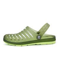 eva garden clogs оптовых-Mens Mules Clogs Eva Beach Garden Shoes Man Slippers Outdoor Clog Shoe Slipper Cool Fashion Flip Flops Casual Pantufas Summer
