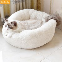 ingrosso sacco a pelo del cane del cucciolo-Petshy Cute Small Pet Cat Nest House Kitten Puppy Autunno Inverno Caldo morbido peluche Dormire Cave Bed Dog Sleeping Bag Kennel Cushion