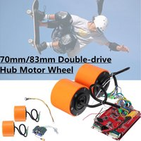 Wholesale brushless motors kits resale online - 70mm mm W Brushless hub motor wheels kits for Electric Skateboard Off Road Skateboard Drive Wheel Longboard Mountains