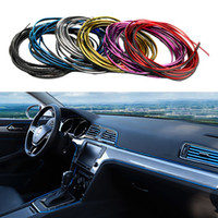 Wholesale flexible car moulding resale online - Universal Car Strips DIY Flexible Interior Decoration Moulding Trim Strips Car Central Control and Door Anti collision Decoration Strips