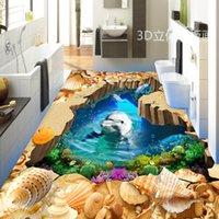 ingrosso decalcomanie del delfino-[Autoadesivo] 3D Dolphin 163 Floor Wallpaper Mural Wall Print Decalcomanie da muro