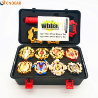 Wholesale gold beyblade toys for sale - Gold style Beyblades Metal Fusion Beyblades Set Storage Box Top Beyblade burst bey blade Launcher Bayblade Toys For Children boy
