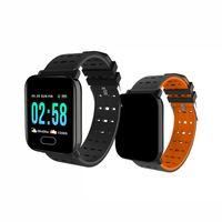 muñequeras de correr al por mayor-A6 pulsera reloj inteligente pantalla táctil resistente al agua reloj inteligente teléfono con frecuencia cardíaca pulsera inteligente monitor deporte correr