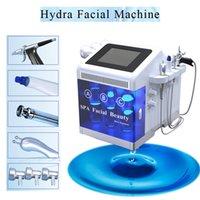 microdermoabrasion para salon al por mayor-Hydro dermabrasion bio microcurrent depurador de la piel agua microdermabrasion pistola de pulverización facial limpieza de la piel spa salón de la máquina