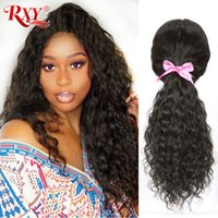Wholesale human hair large wigs black for sale - Group buy Natural Curly Human Hair Wig Glueless Full Lace Human Hair Wigs Brazilian Natural Wave Lace Wigs For Black Women
