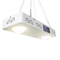 exibição de espectro venda por atacado-CREE CXB3590 pode ser escurecido 200 W COB LEVOU Crescer Espectro Completo Luz com Display LCD Temporizador Temp-Controle para Plantas de Interior Todos Os Estágios Crescer