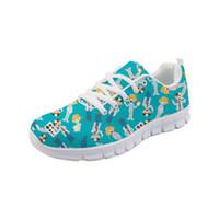 el boyalı spor ayakkabıları toptan satış-Noisydesigns 2019 Bahar Yeni Flats Zapatos Mujer 2019 Kızlar Için Sneakers Orijinal El Boyalı AyakkabıKadınlar Dantel up-AQ
