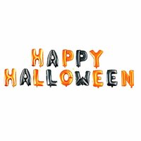 glückliche ballons groihandel-14 teile / satz happy halloween ballon folie brief ballon für party dekoration schwarz und orange luftballons party supplies jk1909