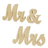 adereços do casamento da letra venda por atacado-SR. MRS Carta Ornamento De Madeira Simples Casamento Bachelorette Decoração Do Partido Prop Manual Criativo Moda Artes E Ofícios 9 5hyD1