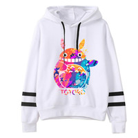 totoro sweatshirts großhandel-Neue 2019 Frühling Herbst kawaii Frauen Nette Totoro Print Hoodies Frauen harajuku Langarm Mit Kapuze Cartoon Printting Sweatshirts