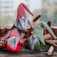 ingrosso vecchi alberi di natale-Nuova bambola senza volto Pendent Cappello a strisce natalizie Bambola senza volto Albero di Natale Appeso Ornamento Decorazione Gnome Dolls Old Man