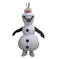ingrosso pupazzo di neve costume della mascotte di natale-Sorridente pupazzo di neve del costume della mascotte dei cartoni animati di Halloween di Natale festa di compleanno del costume di trasporto